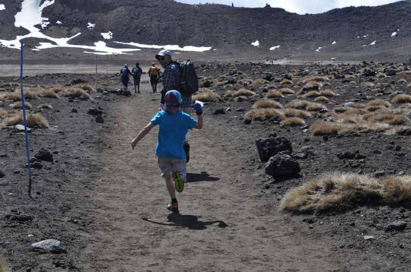 Why walk the Tongariro Crossing when you can run