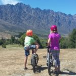 Biking to Kawerau Bridge, Queenstown, South Island