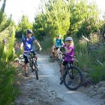 Mountain biking with kids, Craters of the Moon, Taupo