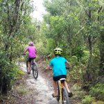 Mountain biking with kids, Crater of the Moon, Taupo