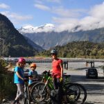 Riding to the start of the Franz Joseph walk, West Coast, South Island