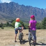 Mountain biking Queenstown trail with kids