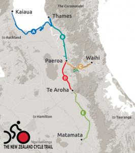 Hauraki Rail Trail map