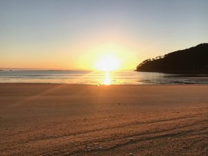 Sunrise at Bark Bay, Abel Tasman