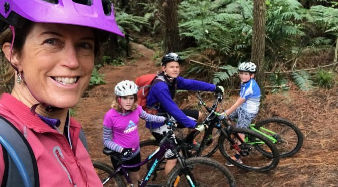 Beginner mountain biking in the Whakarewarewa forest