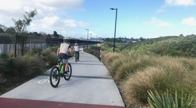 Exploring auckland by bike and train